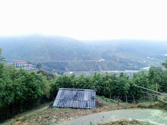 Scenery of Lao Chai village from the hill....