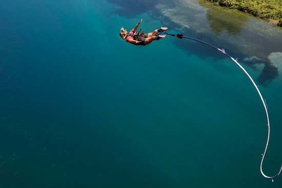 Crystal clear waters to bungy over