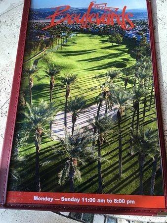 Boulevards new menu, Sun City Palm Desert....