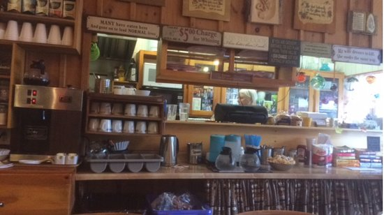 Jeannine Backtalk Cafe : From sitting at the big table looking into the kitchen.