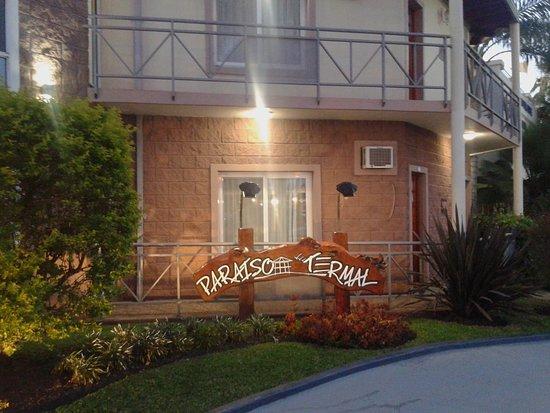 Hotel Paraìso Termal: Cartel de Ingreso- Federaciòn, Entre Rìos 2019.