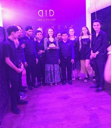 DID- Dine in the Dark Siem Reap surprise guest birthday