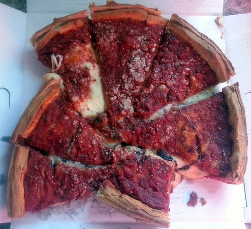 Giordano's: more than enough to snack on during the football games on Sunday