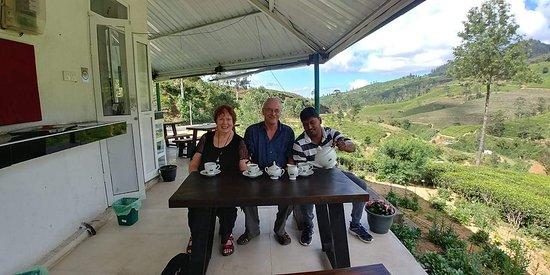 Having a cup of refreshing Sri Lankan tea with Dhammika.