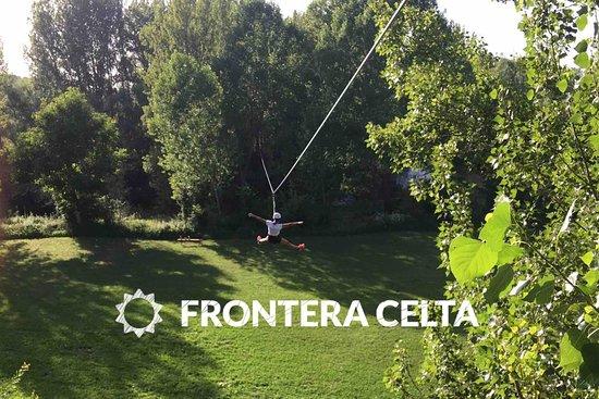 León, España: Parque cuerdas leon tirolina espectacular