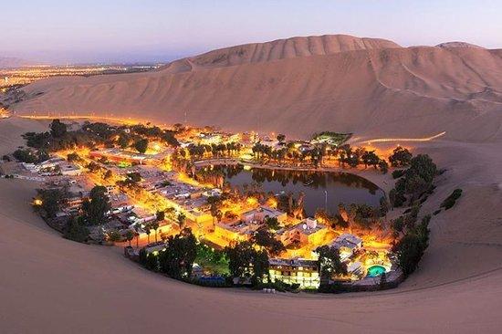 הואקאצ'ינה, פרו: Se estiver programando viagem para o Peru, não deixe e incluir no roteiro o único deserto oásis cheio de leões marinhos e pinguins. Vale a pena conhecer Huacachina, situado a poucas horas de Lima.