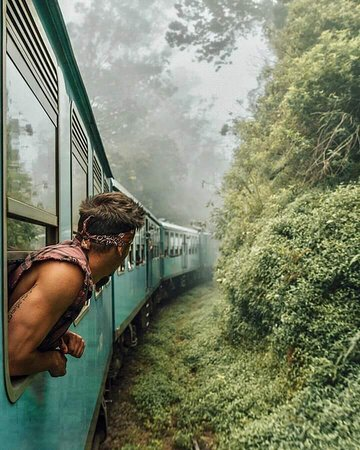Nanu Oya, Sri Lanka: Train travel is one of the cheapest and most convenient ways to see the country. You get to enjoy the most spectacular scenery while still having the opportunity to grab some food, talk to locals and meet fellow travelers. You can also get off at any station you like and get as adventures as possible.  Sri Lanka is a beautiful country that's ideal for train trips. The route from Ella to Kandy is considered the most picturesque in the whole country.