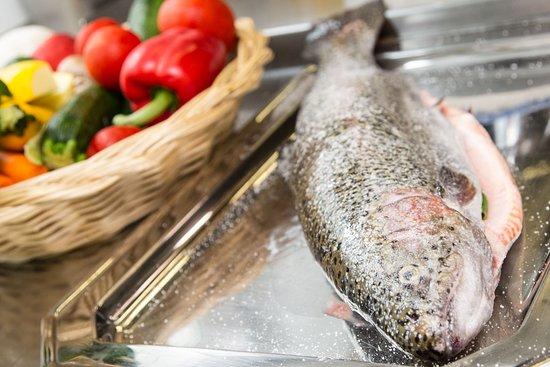 Feldkirchen, Austria: Frische Fisch