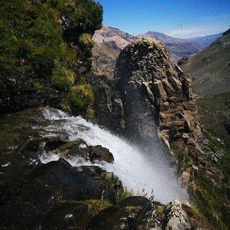 Maule Region, Chile: Cascada invertida.
