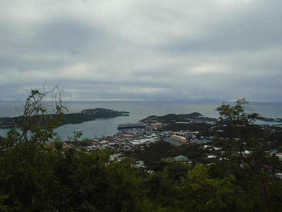 The Best of St Thomas Private Sightseeing Tour: View from an outlook.