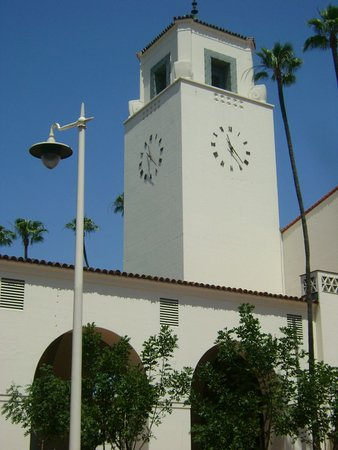 View of the Mission-style clock tower - Union Station