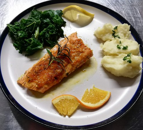 Or try our specialty dishes such as the Salmon in Orange if you want something a little different.