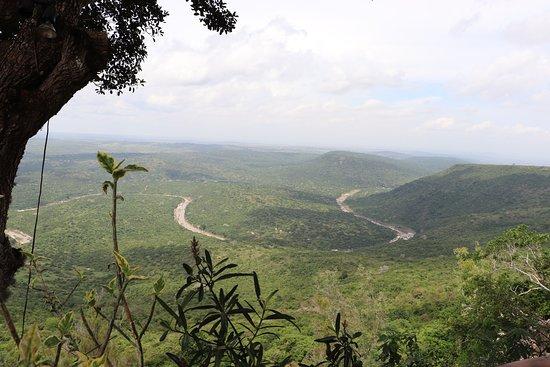 Kwale, Kenya: uitzicht van op shimba green lodge op olifanten plaats (maar zaten er geenà
