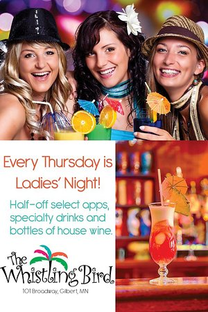 Gilbert, MN: Ladies night Thursday!