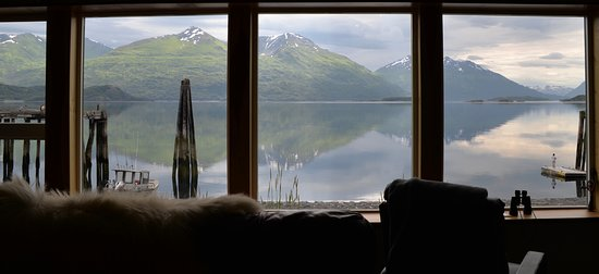 Kodiak National Wildlife Refuge, AK: View out your Great room window.