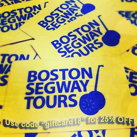 "Looking for great #gift #card #deals for #birthdays and #holidays? GET 25% OFF w/code ""giftcard18"" at #Boston #Segway #Tours 🎉www.bostonsegwaytoursinc.com/gift"