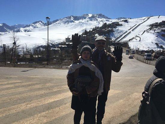 A paisagem maravilhosa da Cordilheira dos Andes até Farellones, o primeiro centro invernal do Chile