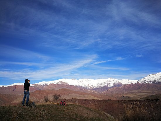 Great Snowy View of Alamut Valley