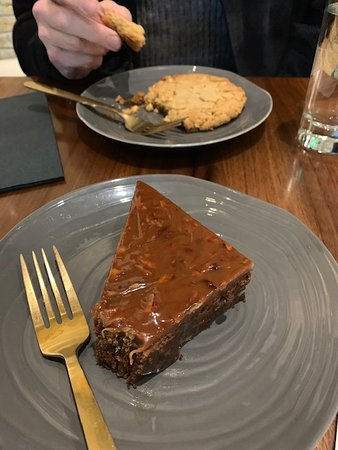 peanut butter cookie and mole spice brownie