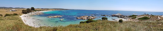 "Binalong Bay, Australia: A panorama shot of ""The Gardens"", approximately 20 minutes drive north on a sealed road from The Bay of Fires Bush Retreat."