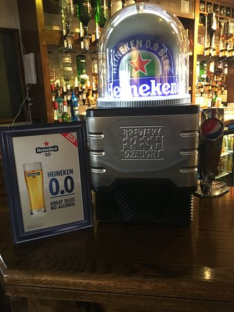 Tredegar, UK: Zero alcohol now on Draught at The Mount