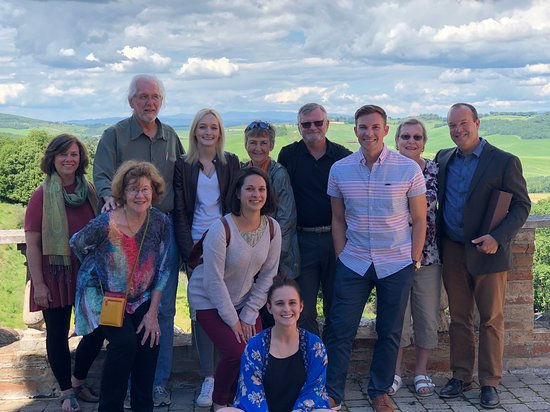Montalcino, Italia: Euro Travel Coach's Small Group Tour of Tuscany last May at the Silvio Nardi winery. We have spots open for this May! Check it out.