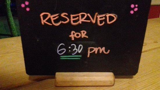 Prenotazione tavoli