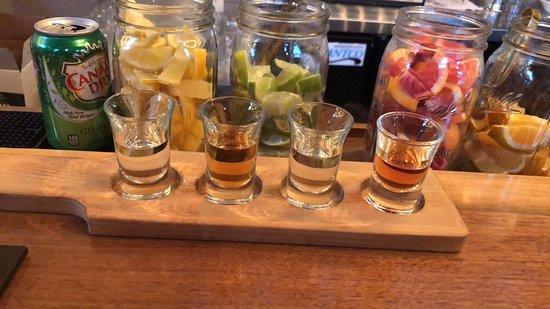 Eight Oaks Farm Distillery: Distillery flight