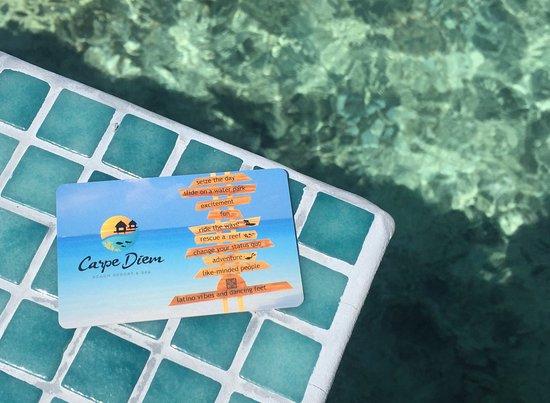 Raa-atollen: Fun key card to the room