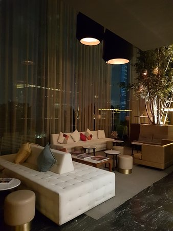 A lounge area.