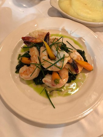 jumbo shrimp with spinach