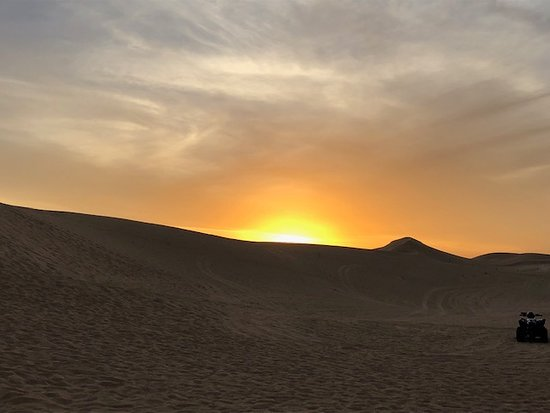 Half-Day Desert Safari from Abu Dhabi: sunset in the dessert