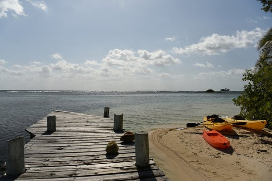 South Water Caye, Belize: kayak launch