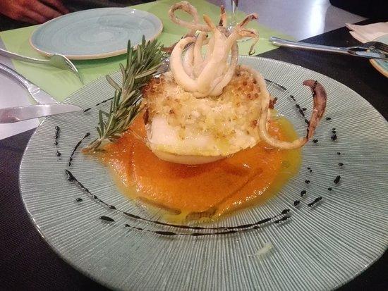 Villablanca, España: Choco con risotto de langostinos