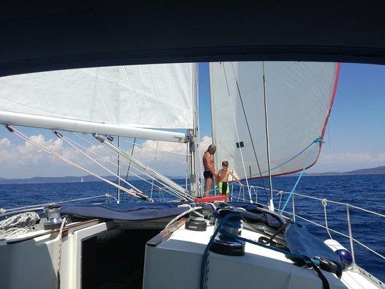 Murter, Kroatië: Sailing trip to kornati