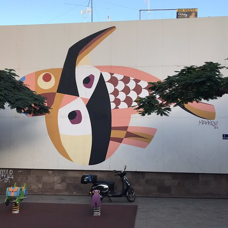 Mural Cesar Manrique - Pez Volador
