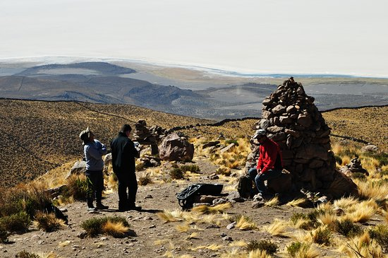 Hiking up Mirador Volcan Thunupa - what a view halfway yp!
