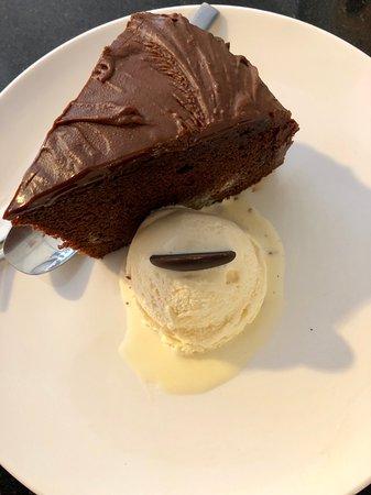 Chocolate Cake with Buds of San Francisco Vanilla ice cream