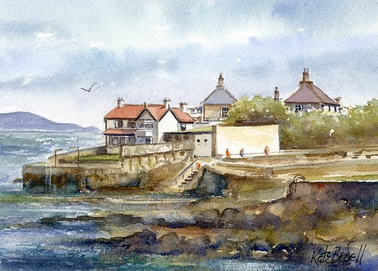 Irish Design Gallery : Watercolour of Sandycove