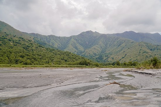 Zambales Province, Philippines: The view of the trek along lahar.