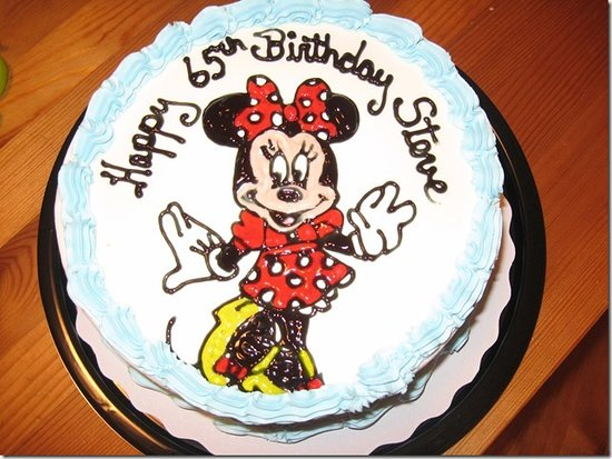 Fine Minnie Cake Picture Of Dairy Queen Sidney Tripadvisor Personalised Birthday Cards Bromeletsinfo