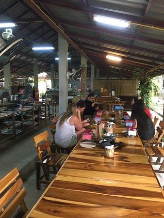 Chatting in between meals