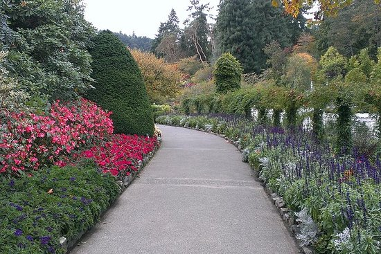 Victoria City og Butchart Gardens...