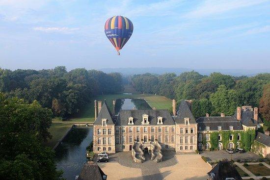 Luchtballonvaart in Fontainebleau