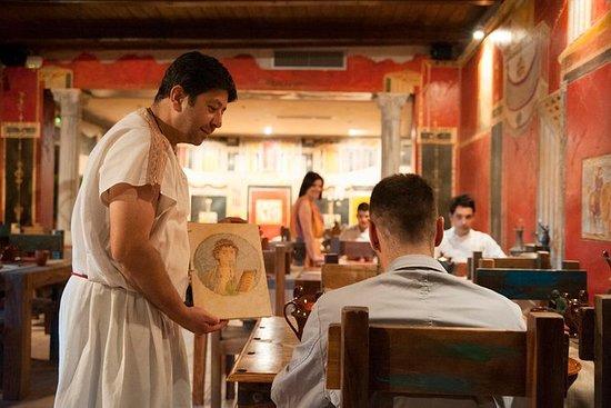 Degustación de vinos y comida romana...