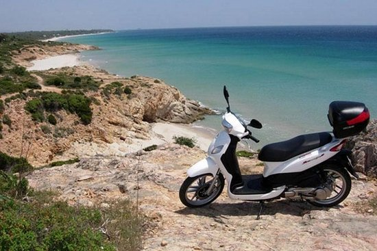 Cagliari: Hidden Coves by Scooter from Chia: Hidden Coves by Scooter