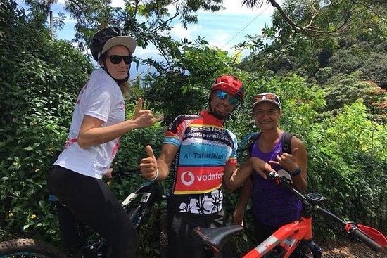 乘坐电动自行车探索Tahiti Belvedere