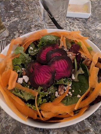 Burley, ID: Mushroom ravioli and the roasted beet salad