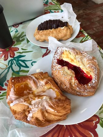 Danish delights.  I wish I could have eaten them all.  Next time I will take some to go.