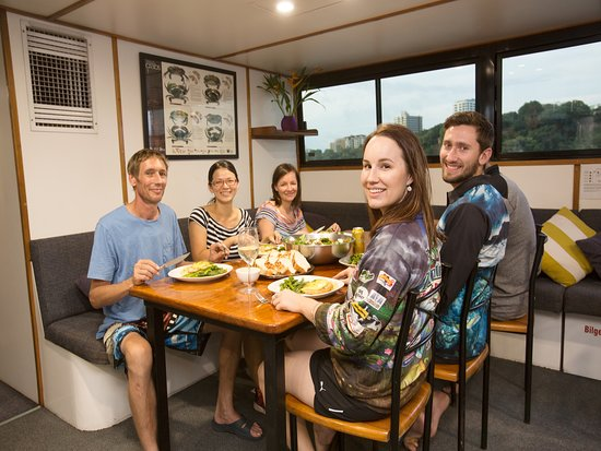 Top End Seafaris: Dinner cooked by your no board chef